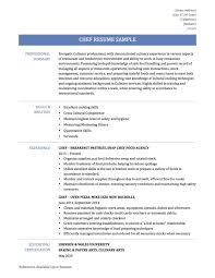 Chef Resume Examples Templates Chef Resume Sample Examples Sous Chef