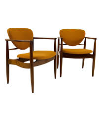 Mid century modern chair styles Dining Chairs Amazoncom Finn Juhl Style Midcentury Modern Chairs Pair