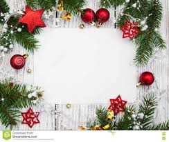 Blank Christmas Background Christmas Background Blank Paper With Decoration Stock Image