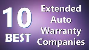 top 10 best extended auto warranty companies