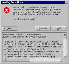 Error Handling In Visual Basic Net