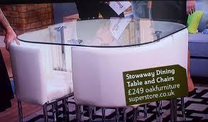 furniture nice stowaway dining table 16 algarve this morning itv2 stowaway dining table