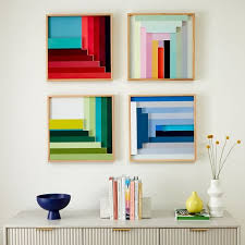 colorblock lacquer square wall art by