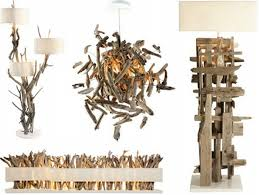 upcycled driftwood decoration light lamps
