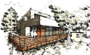modern architectural drawings. Modern Home Architecture Sketches Room Combined Architectural Drawings