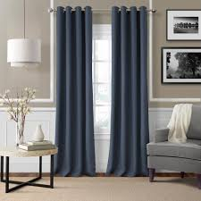 Single window curtain Decor Polyester Single Window Curtain Panel Indigo Home Depot Elrene Elrene Essex 50 In 108 In Polyester Single Window