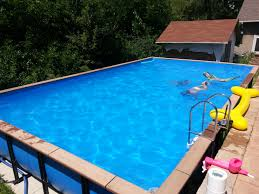 rectangle above ground pool sizes. Modren Above Rectangle Above Ground Pool Sizes Pools With Deck Walmart  Rectangle  Aluminum Above Ground Pools Pool For N