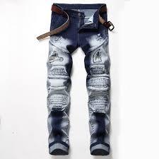 Rock Revival Jeans Size Chart Women S Mens Jeans Distressed Motorcycle Biker Jeans Rock Revival Hole Skinny Men Jeans Slim Ripped Hole Straight Men Denim Pants Size 28 42 05