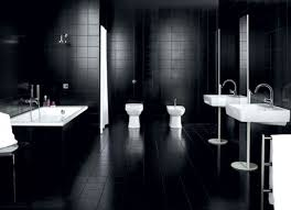 spacious all white bathroom. Bathroom: Spacious Space Of Modern Bathroom Which Is Decorated With Black Ideas And Completed All White S