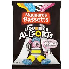 maynards betts liquorice allsorts bag 165g