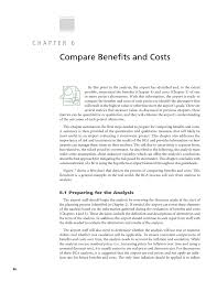 Cost Benefit Analysis Flow Chart Chapter 6 Compare Benefits And Costs Benefit Cost