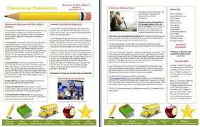 Free Newsletter Layout Templates Magnificent 48 Free Microsoft Word Newsletter Templates For Teachers School