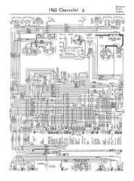 auto wiring diagram  1960 chevrolet 6 biscayne belair or impala wiring diagram