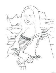 Mona Lisa Coloring Page Coloring Page Free Printable Mona Lisa