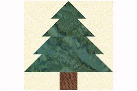 Easy Patchwork Christmas Tree Quilt Block Pattern &  Adamdwight.com