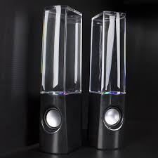 bluetooth speakers with lights and water. olixar water dancing dual bluetooth speakers with lights and r