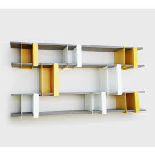 Small Picture Yellow Metal Wall Shelf