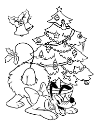 Small Picture Pluto With Christmas Wreath Coloring Page H M Coloring Pages