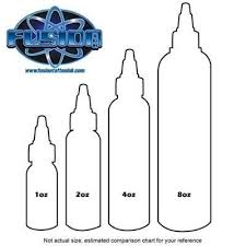 Bottle Size Chart Fusion Tattoo Ink 1oz Bottle Pick Color