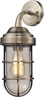 elk 66375 1 seaport nautical antique brass wall light fixture loading zoom