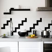 zig zag wall tiles black and white kitchens 10 of the best