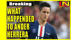 What happended to Ander Herrera at match PSG vs Rennes - YouTube