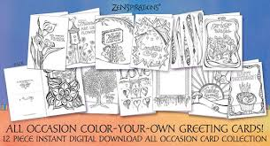 Download our free ecard app. Zenspirations By Joanne Fink All Occasion Color Your Own Etsy