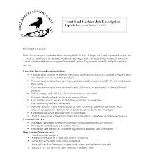 Sample Resume For Cashier Position Resume Job Descriptions Cashiers