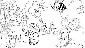 printable insect coloring pages color free i for insects of preschoolers full size