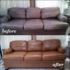 faded leather couch red with cognac dye color repair kit testimonials leather furniture dyes repair
