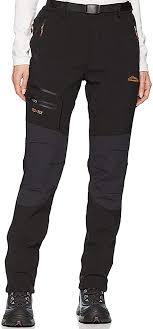 Womens Outdoor Waterproof Windproof Fleece Slim Cargo Snow Ski Hiking Pants