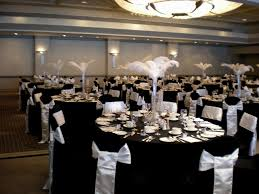... black and white wedding table decorations