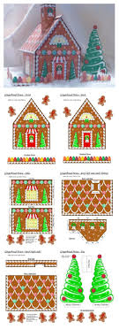 Image Result For Gingerbread House Papercraft Template Altered