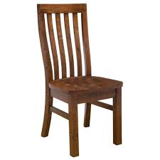 outback wood dining chairs in distressed chestnut