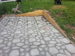patio concrete slabs. Beautiful Slabs Picture Of Form In Place Concrete Paver Patio On Slabs