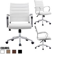 comfortable desk chair. Ribbed PU Leather Mid Back Comfortable Office Chair Desk R