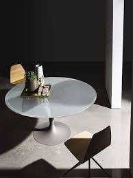 Italian Glass Dining Table Coaster Company Chrome Round Glass Top Dining Table Sleek Chrome