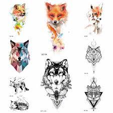 акварельные лисички временные тату наклейки для женщин рука