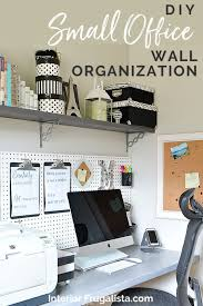 wall shelves and pegboard organization