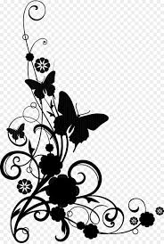 Flower And Butterfly Stencil Designs Butterfly Stencil Png Download 2225 3300 Free
