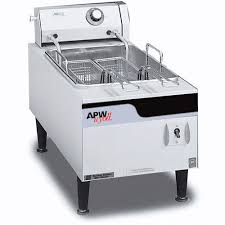 apw wyott countertop electric fryer ef 15n
