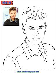 Small Picture Cute Music Icon Justin Bieber Coloring Page H M Coloring Pages