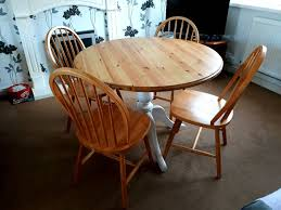 solid pine round farmhouse dining table and 4 chairs can deliver locally