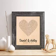 personalized leather 3rd anniversary gift for him or her first dance song leather engraving