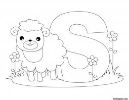Small Picture Printable Animal Alphabet worksheets Letter S is for Sheep