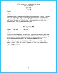 Sample Resume For Teachers Sample Resume Teacher Assistant Cover Letter Example For 70