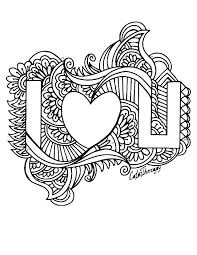 I Love You Coloring Pages For Adults At Getcoloringscom Free