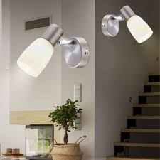 set of 2 rgb led wall mounted lights with moving glass spot neptun bild 9