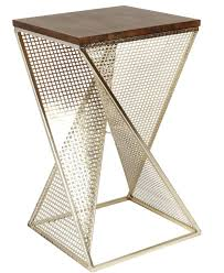 copper hex accent tables geo side tables