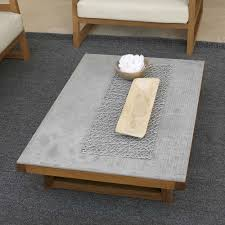 concrete and wood furniture. Coffee Table Wooden Iroko And Top In Alabama Fiber Cement Concrete Wood Furniture E